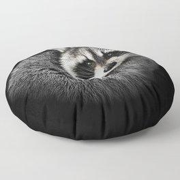 A Gentle Raccoon Floor Pillow