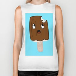 Sad Food - Topsy Turvy Ice Cream by Squibble Design Biker Tank