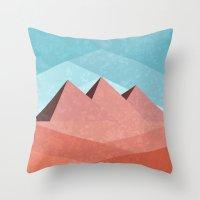 egypt Throw Pillows featuring Egypt by Illusorium