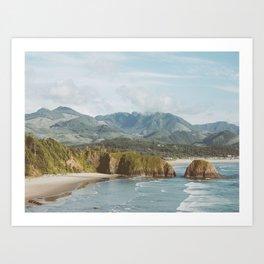 Oregon Coast - Cannon Beach Nature, Landscape Photography Art Print