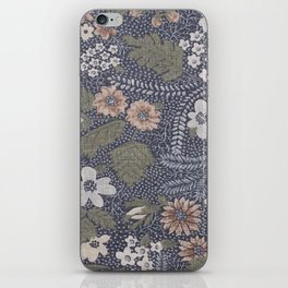 Seafoam Floral Pattern iPhone Skin