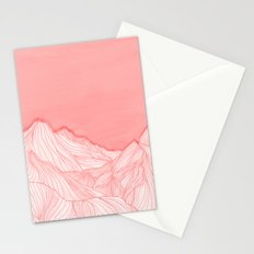 Lines in the mountains - pink Stationery Cards