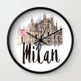 Milan watercolor Wall Clock