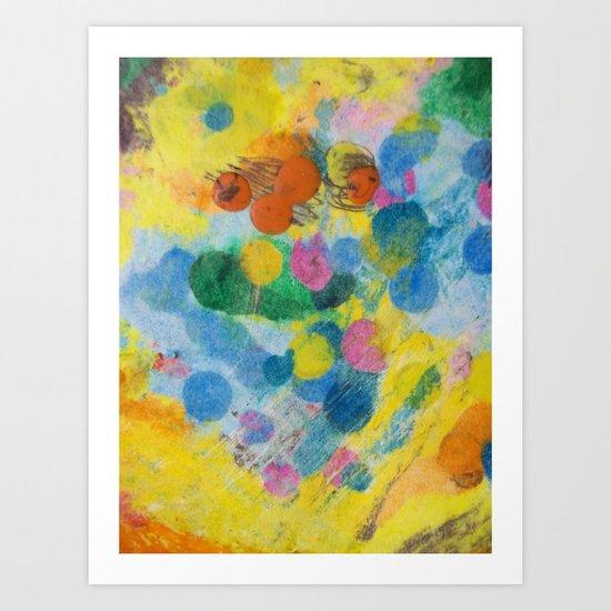 Crayon Love: The Melting Dot Art Print
