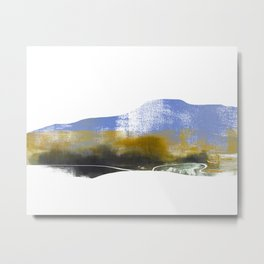 Blue Mountain Landscape, Mountainscape Metal Print