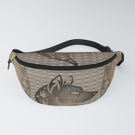 The Wolf (Brown) Fanny Pack