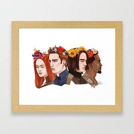 CATWS Floral Crowns Framed Art Print