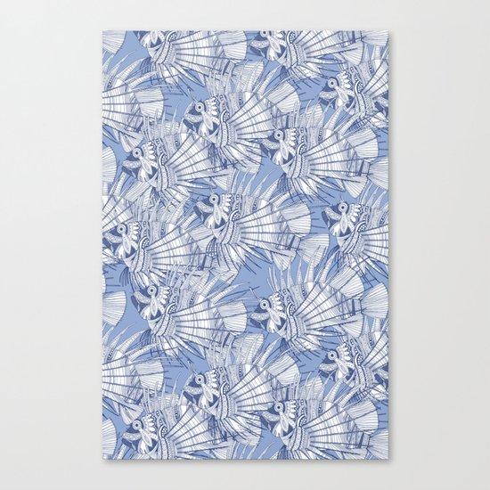 fish mirage blue Canvas Print