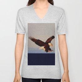 American Bald Eagle Unisex V-Neck