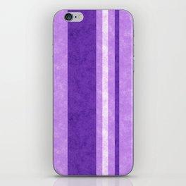 Retro Vintage Lilac Grunge Stripes iPhone Skin
