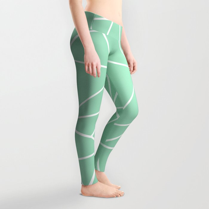 Abstract Heart Mint Leggings