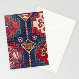Royal Blue Red Kazak 19th Century Authentic Colorful El Paso Vibes Vintage Patterns Stationery Cards
