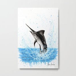 Dancing Marlin Metal Print