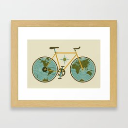 Ride For The World Framed Art Print