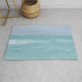 Seashore Chopy Waves Rug