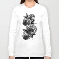 roses Long Sleeve T-shirts featuring Four Roses by BIOWORKZ