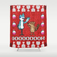 sweater Shower Curtains featuring Regular Sweater by Brieana