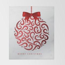 Decorative Christmas Ornament Pattern Throw Blanket