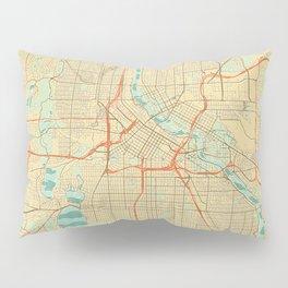 Minneapolis Map Retro Pillow Sham