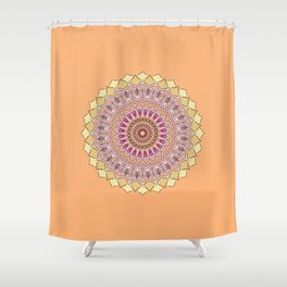 Ethnic Flower 11 Shower Curtain