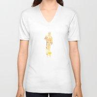 c3po V-neck T-shirts featuring C3PO by Jon Hernandez