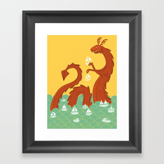 It's a Good Day to be a Sea Monster Framed Art Print