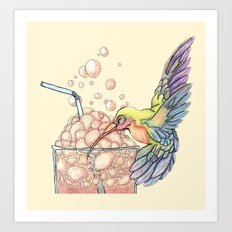 Floating Bubbles Art Print