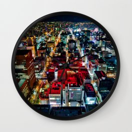 A Peaceful City - Sapporo , Japan ( Without Billboard )  Wall Clock