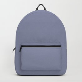 Gray-Blue - solid color Backpack