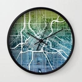 Minneapolis Minnesota City Map Wall Clock