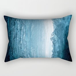 Blue Ice Cave Rectangular Pillow