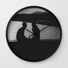 The Lovers in Nice Black and White Photography Wall Clock