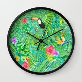 Foret tropicale Wall Clock