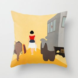Kidnapping Caucasian Style Throw Pillow