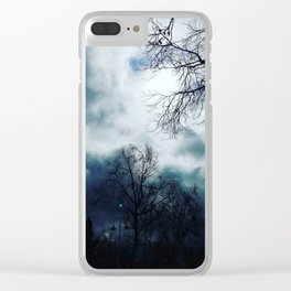 Cloudy skys Clear iPhone Case