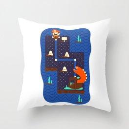 Overworld: Deep Throw Pillow