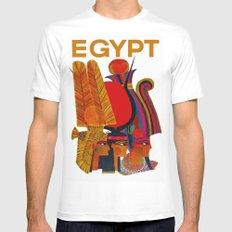 Vintage Egypt Headdress Travel White Mens Fitted Tee LARGE