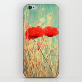 Poppies vintage(3) iPhone Skin