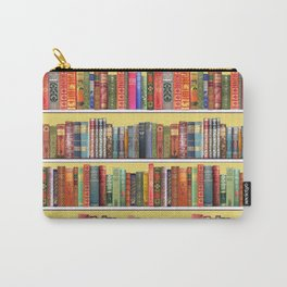 Christmas books antique vintage library Carry-All Pouch
