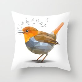 Sing-along with Robin Throw Pillow