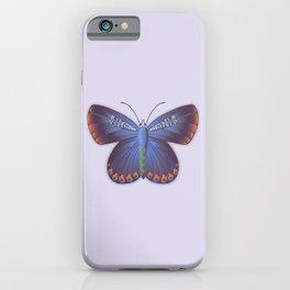 Karner Blue Butterfly - Lavender Palette iPhone Case