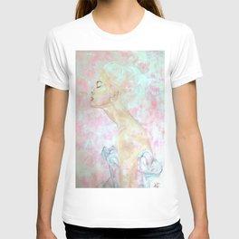 Pink Abstract Proflie T-shirt