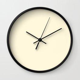 CORNSILK Ecru solid color Wall Clock
