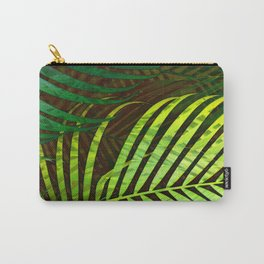 TROPICAL GREENERY LEAVES no8a Carry-All Pouch