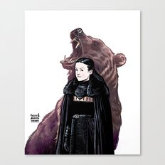 LADY BEAR Canvas Print