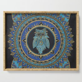 Blue Moon Owl Serving Tray
