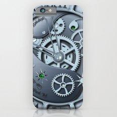 Steampunk clock silver iPhone 6s Slim Case
