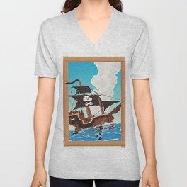 Pirate Ship Unisex V-Neck