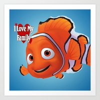 nemo Art Prints featuring nemo  , nemo  games, nemo  blanket, nemo  duvet cover by ira gora