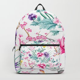 Chinoiserie Decorative Floral Motif Backpack